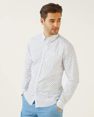 Jigsaw Garment Dye Flower Print Shirt