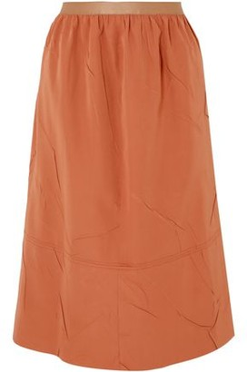 Joseph Olivier Crinkled-crepe Midi Skirt