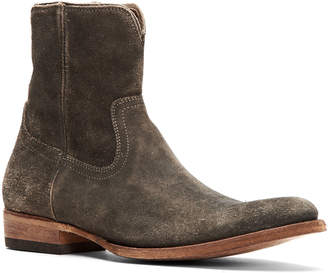 Frye Men's Austin Distressed Suede Western Boots
