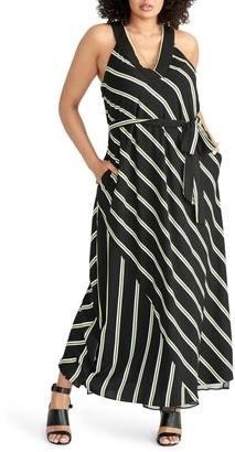 Rachel Roy Jacey Stripe Racer Maxi Dress (Plus Size)