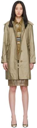 Burberry Beige Car Rain Coat