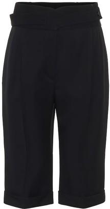 Saint Laurent High-rise wool Bermuda shorts
