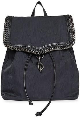 Rebecca Minkoff Chain-Trimmed Woven Backpack