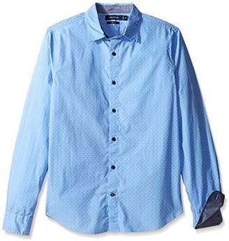 Nautica Men's Print Regular Fit Casual Shirt