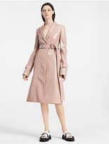Calvin Klein Soft Patent Leather Belted Coat