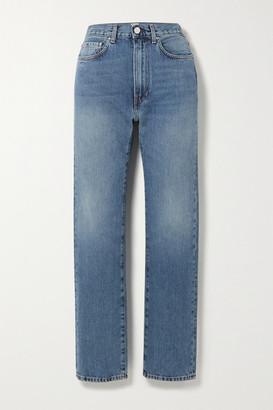 Totême Studio High-rise Straight-leg Jeans - Light denim