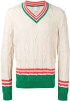 Paul Smith contrast jumper - men - Cotton - S
