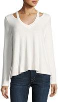NYTT Cutout-Shoulders Knit Tee, White