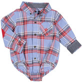 Andy & Evan Plaid Flannel Patched-Elbow Shirt, Size 3-24 Months
