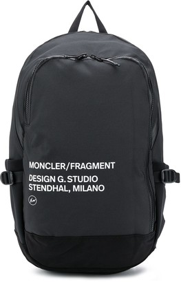 Moncler Address-Print Logo Backpack