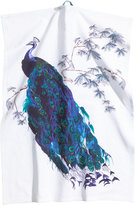 H&M Patterned Tea Towel - White/peacock