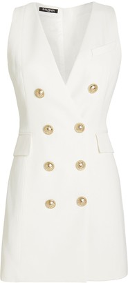 Balmain Tailored Double Breasted Wool Dress