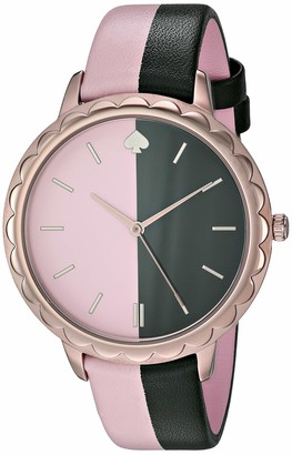 Kate Spade Women's Stainless Steel Quartz Watch with Leather Strap Multi 15.3 (Model: KSW1530)