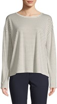 Vince Pencil Stripe Long-Sleeve Cotton Tee