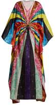 Mary Katrantzou Asso geometric-print silk kaftan