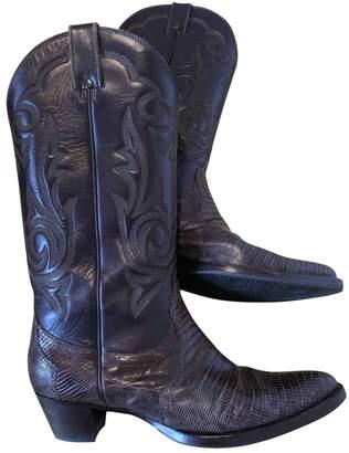 Unützer Brown Alligator Boots