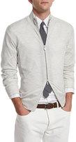 Brunello Cucinelli Wool-Blend Full-Zip Sweater