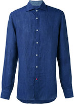 Isaia classic shirt - men - Linen/Flax - 40