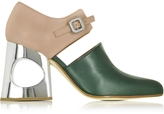Marni Pine Needle and Rosa Taupe Nappa Mary Jane Pump