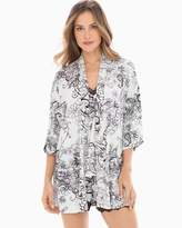 Cool Nights Pajama Wrap Heather Frost Filigree Scroll Ivory