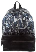 Jimmy Choo Leather-Trimmed Printed Backpack