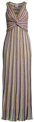 M Missoni Lurex Crossover Gown