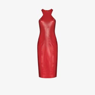 Saint Laurent Fitted latex dress
