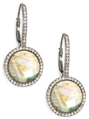 Nina Gilin Diamond & Labradorite Drop Earrings