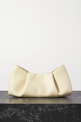 KHAITE Jeanne Small Leather Clutch - Off-white