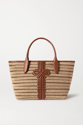 Anya Hindmarch Neeson Woven Leather-trimmed Rope Tote - Neutral