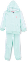U.S. Polo Assn. Mint Zip-Up Hoodie & Pants - Toddler