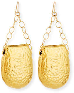 Devon Leigh Hammered Chain Drop Earrings