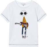 Little Marc Jacobs White Mr Marc Guitar Player Tee