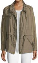 Joie Zip-Front Linen Jacket