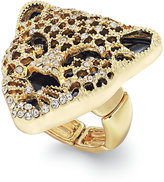 Thalia Sodi Black Crystal Jaguar Stretch Ring, Only at Macy's