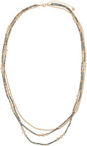 Lydell NYC Golden Triple-Strand Beaded Necklace, Multi