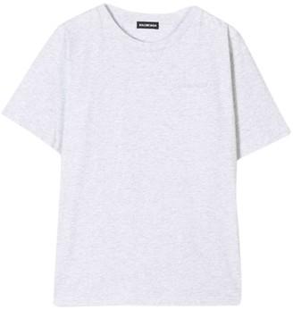 Balenciaga Kids Heavy Jersey T-shirt Grey