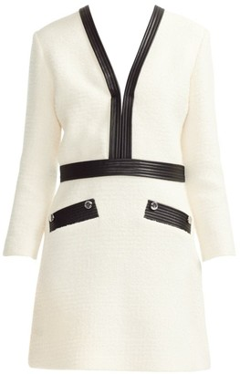 Maje Remma Faux Leather-Trim Dress