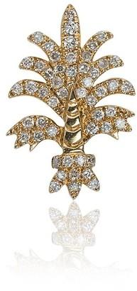 Yvonne Léon 18k yellow gold Bo Fleur diamond earring