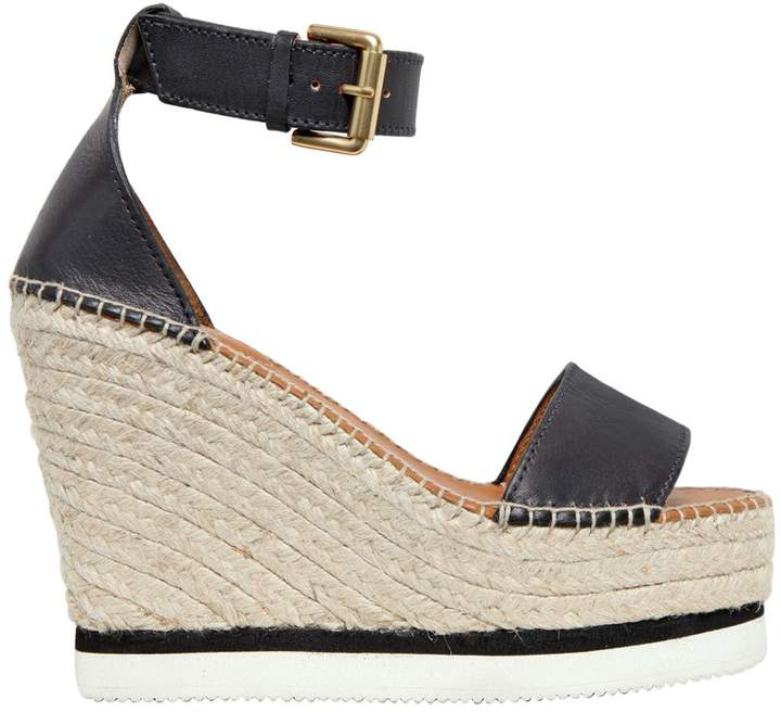 See by Chloe 120mm Leather Wedge Sandals