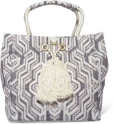 Melissa Odabash Mykonos printed cotton-canvas tote