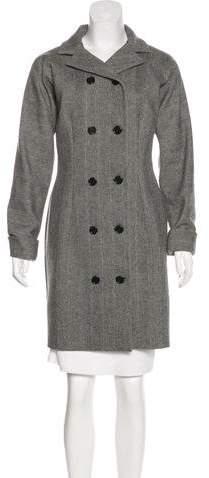 Dolce & Gabbana Wool Herringbone Coat