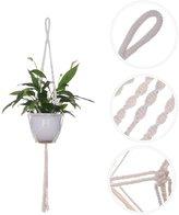 """Sundlight Set of 2 Mcrme Plnt Hnger Hndmde Cotton Rope Hnging Ceiling Plnt Holder Wllrt without Pots,100cm/39.3"""""""