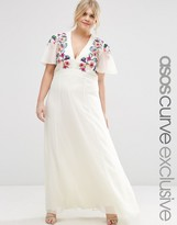 Asos Maxi Dress with Cross Stitch Embroidery