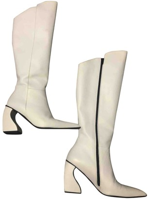 Marques Almeida White Leather Boots