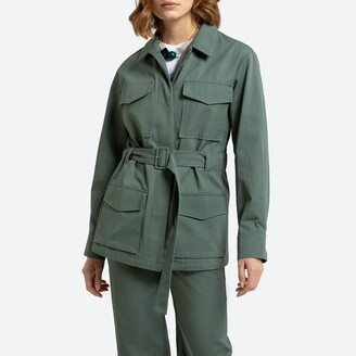 La Redoute Collections Cotton Belted Utility Jacket