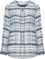 Via Appia Plus Size Checked blouse