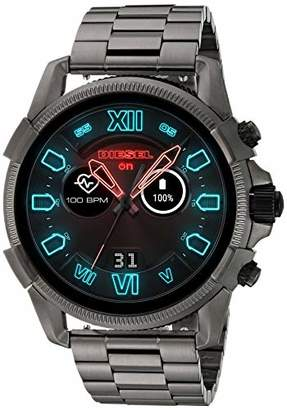 Diesel Men's Touchscreen Watch with Stainless-Steel-Plated Strap