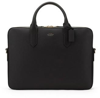 Smythson Panama Leather Slim Briefcase