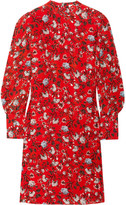 Erdem Mirela Floral-print Silk Dress - Red